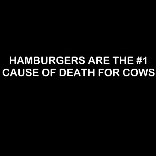 Smešni predpasnik hamburgers are the nr1 cause of death for cows
