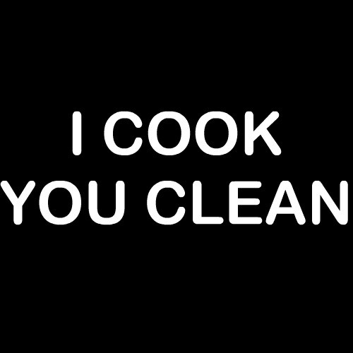 Smešni predpasnik I cook you clean