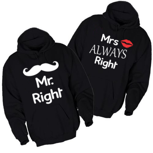 Pulover KOMPLET Mr Right & Mr Always Right