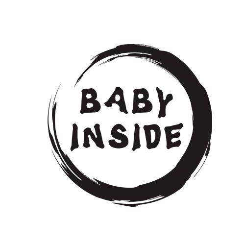 Majica za nosečnice baby inside krog