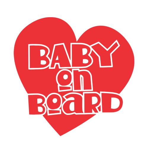 Majica za nosečnice baby on board srce