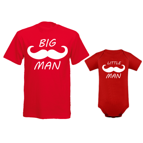 Komplet bodi in majica Big Man - Little Man