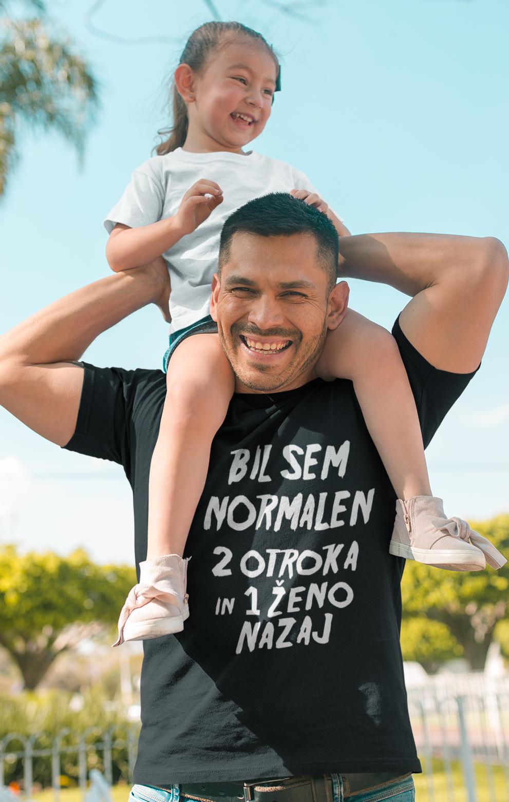 Smešna majica normalen nekaj otrok in eno ženo nazaj