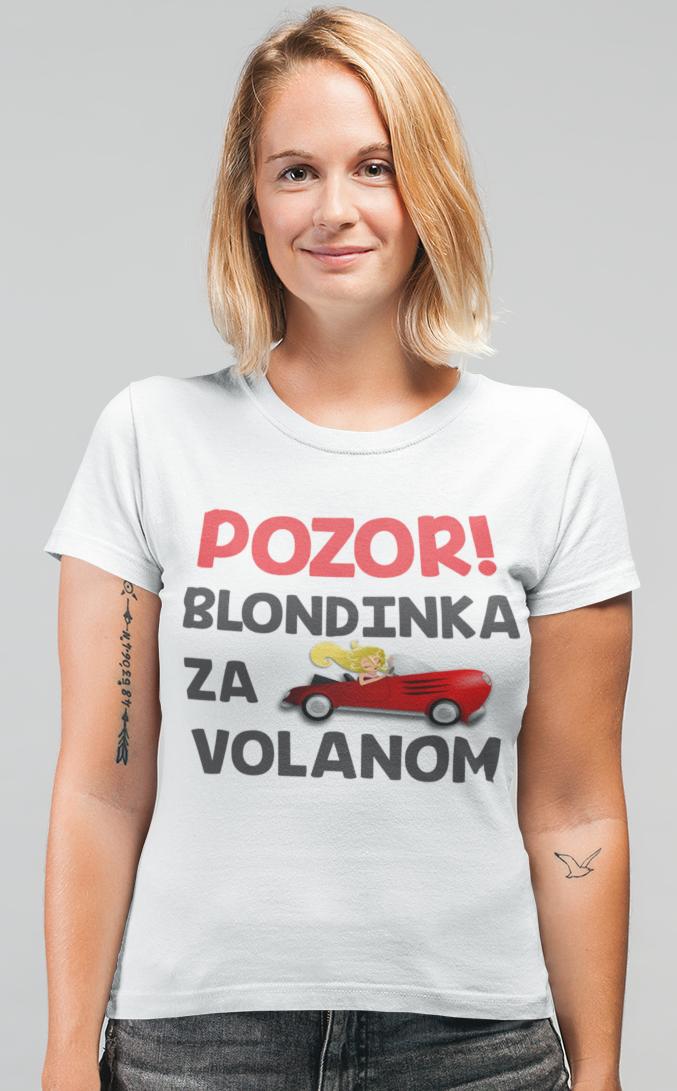Smešna majica pozor blondinka