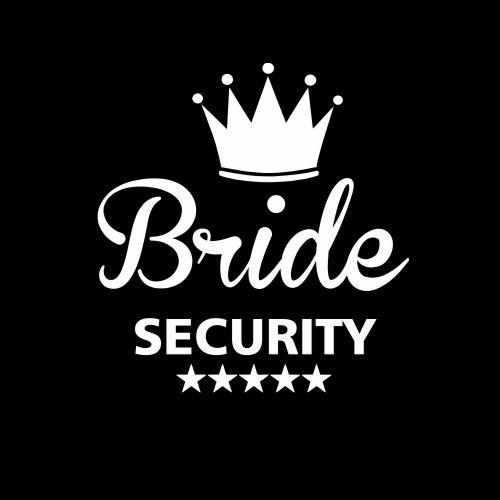 Smešna majica bride security
