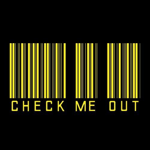 Smešna majica check me out barcode
