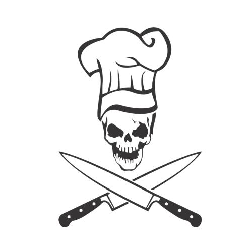 Smešni predpasnik kuhar okostnjak