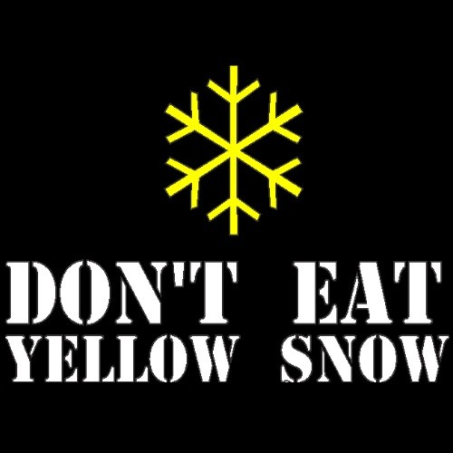 Smešna majica dont eat yellow snow