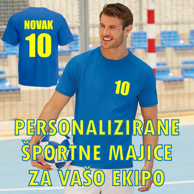 Majica ŠPORTNI DRES PO VAŠI ŽELJI - 100% poliester
