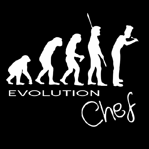 Smešna majica evolution chef