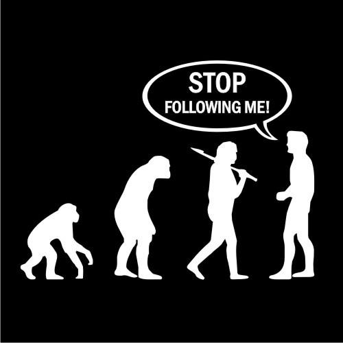 Smešna majica stop following me