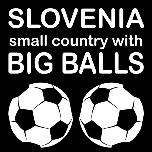 Smešna majica Slovenia small country with big balls