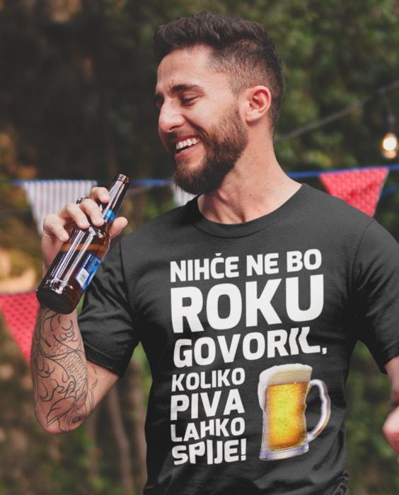 Smešna majica nihče pivo krigla