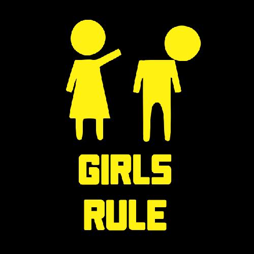 Smešna majica girls rule