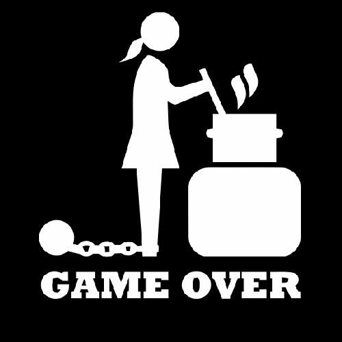 Smešna majica game over kuhinja