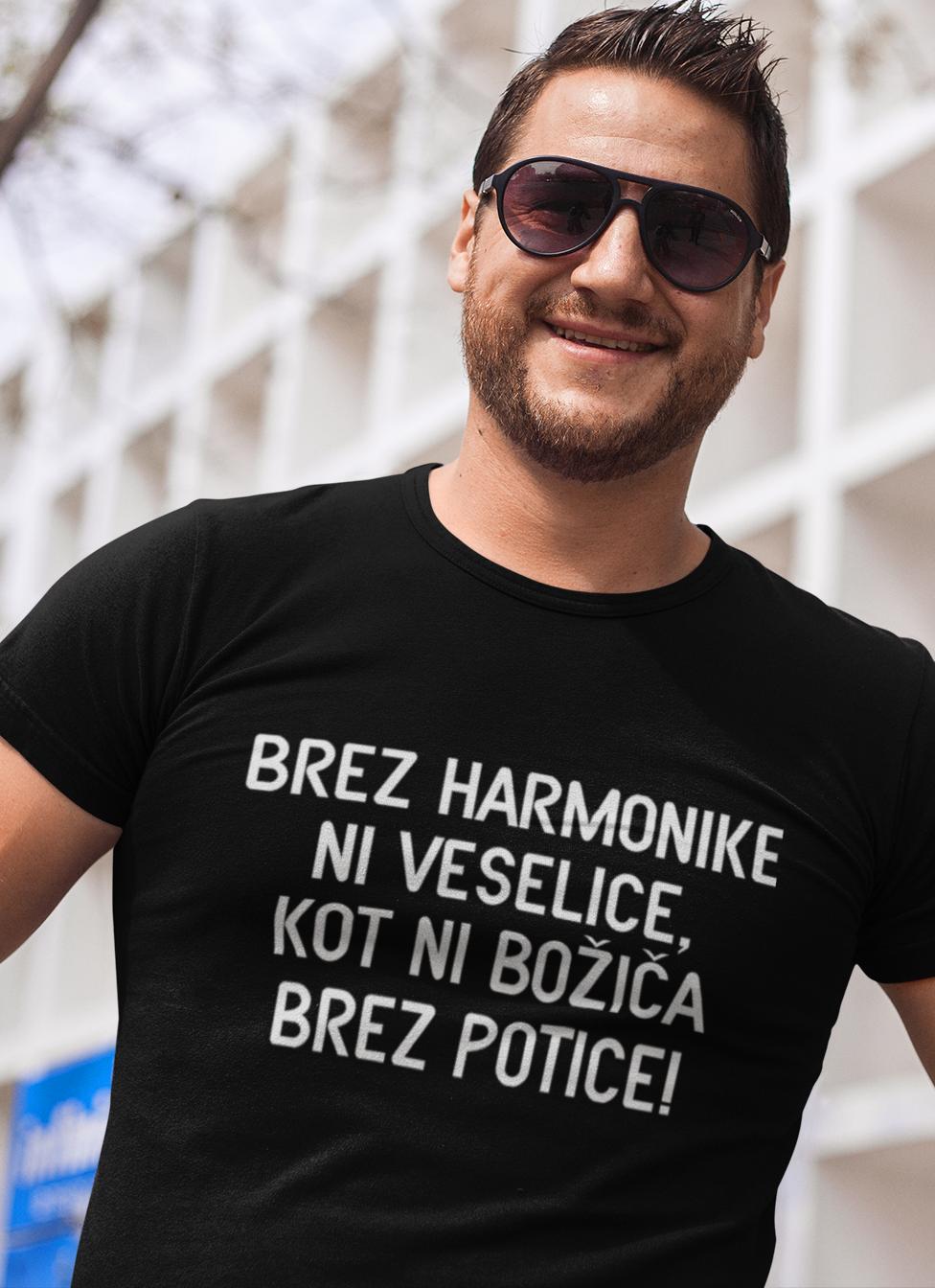 Smešna majica brez harmonike