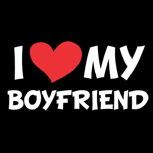 Smešna majica I love my boyfriend
