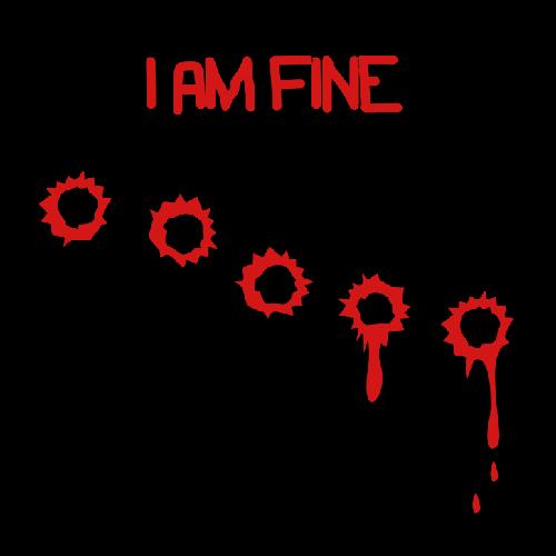 Smešna majica I am fine