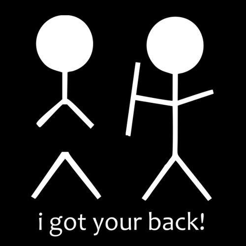 Smešna majica i got your back
