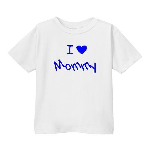 Smešna otroška majica I ❤ mommy