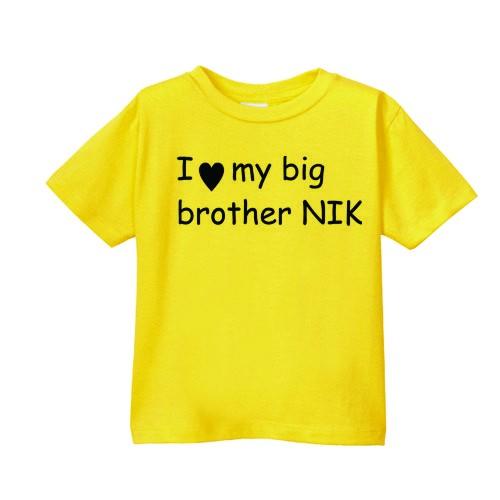 Smešna otroška majica I love my big brother IME PO ŽELJI