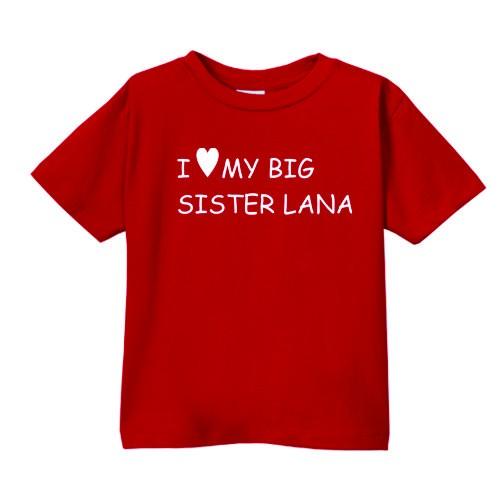 Smešna otroška majica I love my big sister IME PO ŽELJI