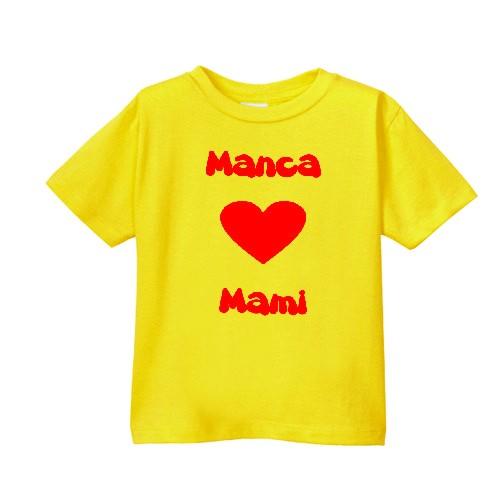 Smešna otroška majica IME PO ŽELJI ❤ mami