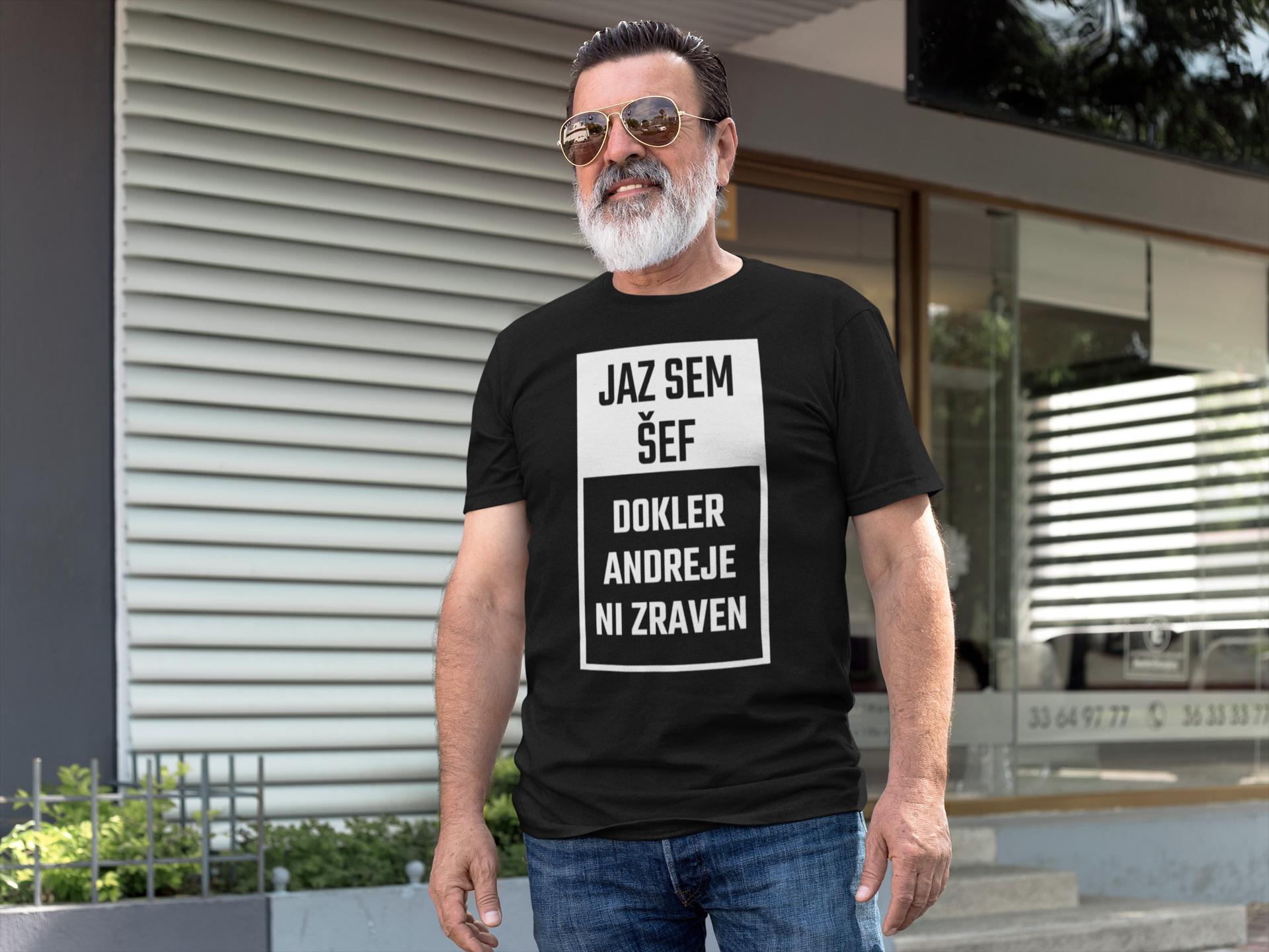 Smešna majica jaz sem šef!