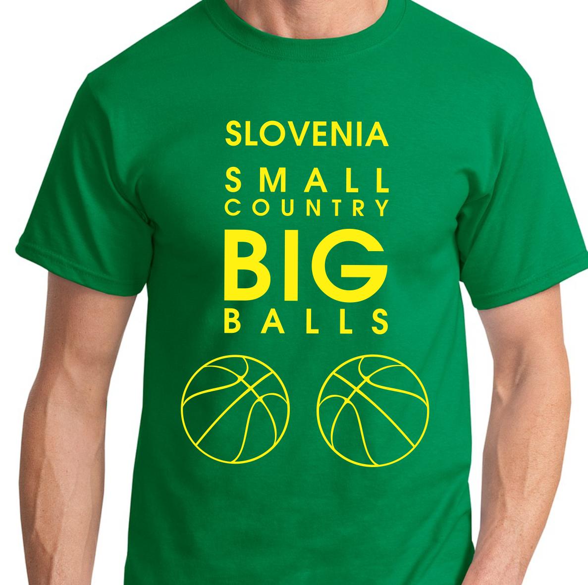 Košarkarska majica Slovenia small country big balls