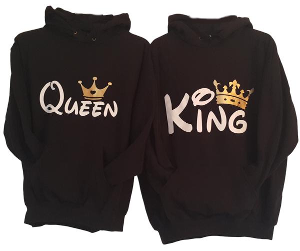 Pulover KOMPLET King Queen - dvobarvno