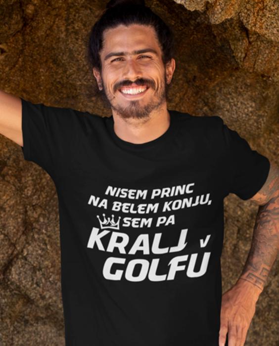 Smešna majica kralj v golfu