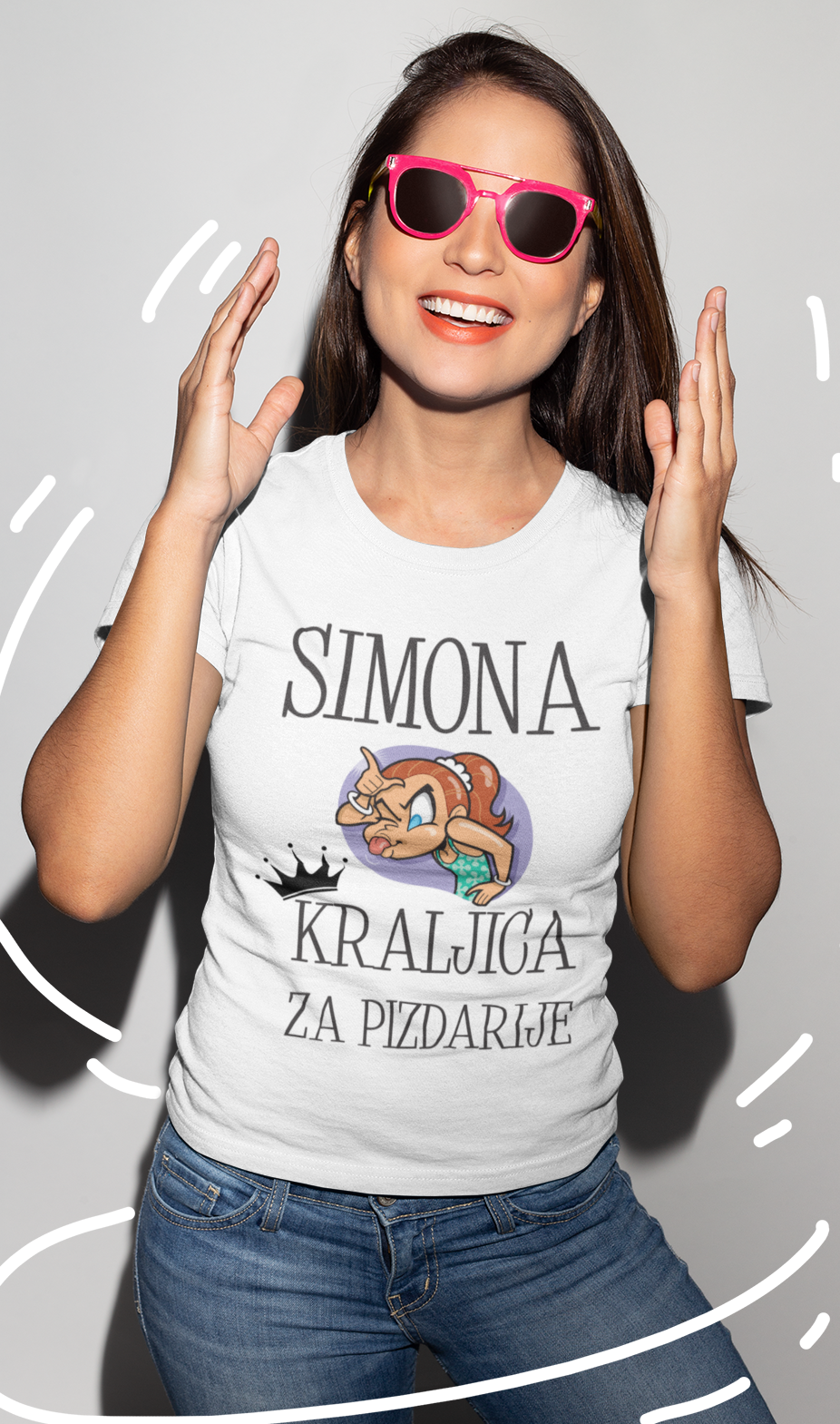 Smešna majica kraljica za pizdarije