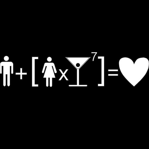 Smešna majica ljubezenska formula