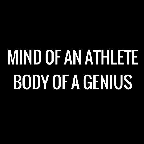 Smešna majica Mind of an athlete, body of a genius