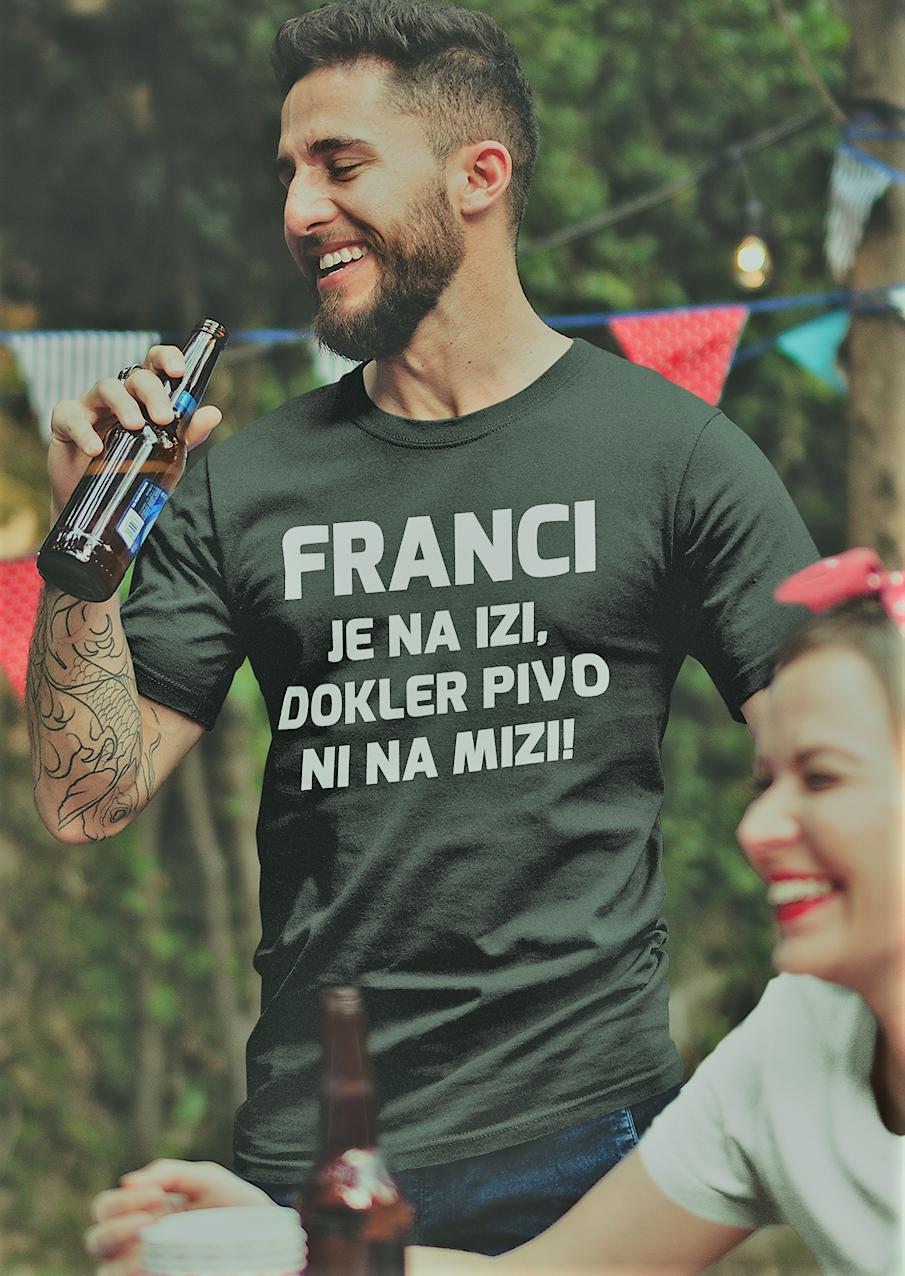 Smešna majica SEM V IZI (IME PO ŽELJI)