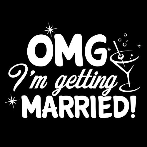 Smešna majica omg i'm getting married
