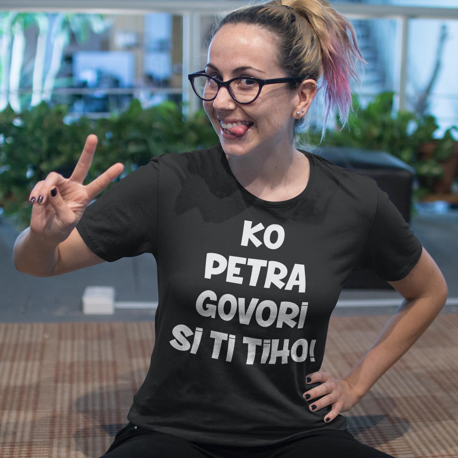 Smešna majica ko govorim si ti tiho