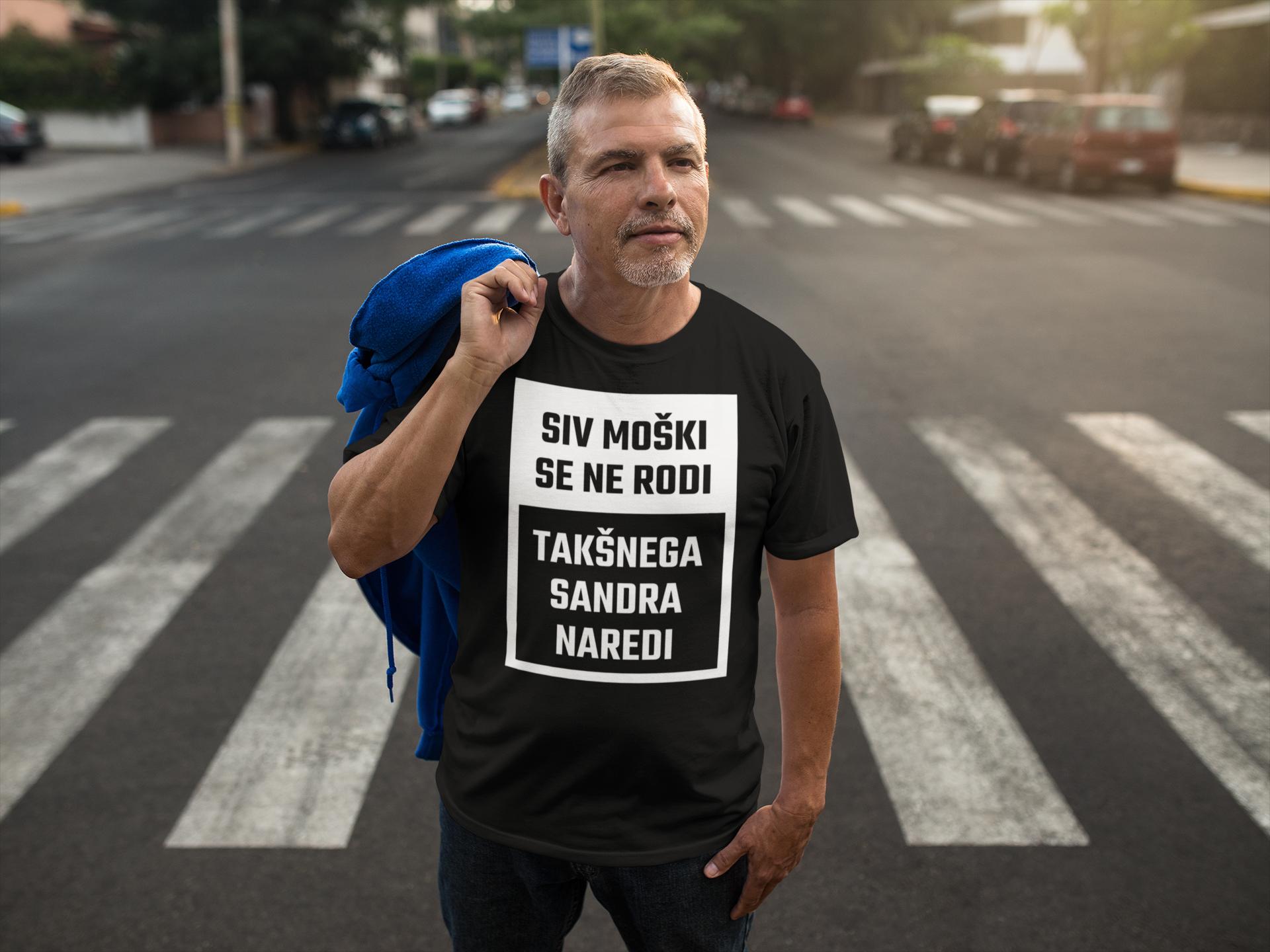 Smešna majica siv moški