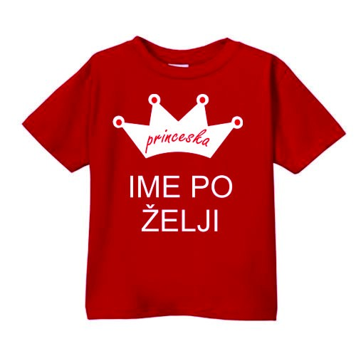 Smešna otroška majica princeska IME PO ŽELJI