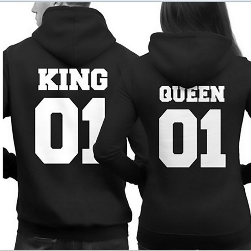 Pulover KOMPLET king queen number 1 - tisk zadaj