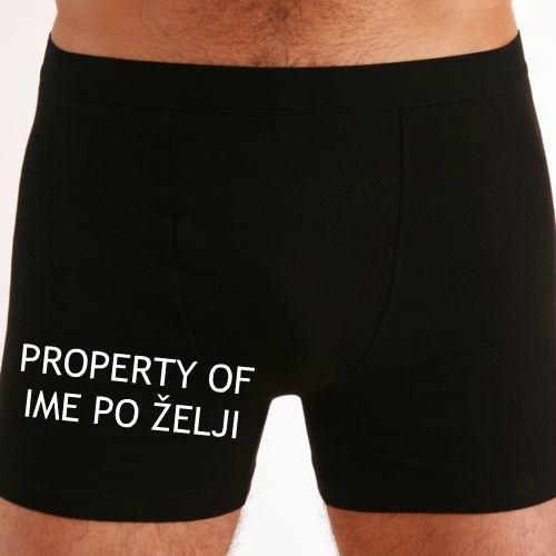 Moške boxer hlače Property of ime po želji