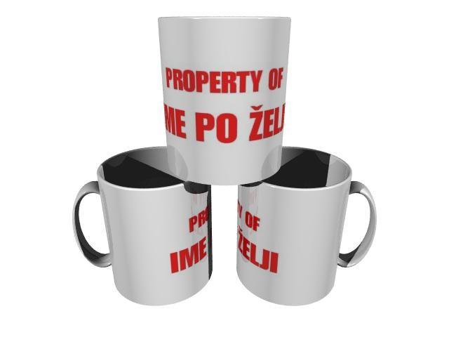 Skodelica property of ime po želji