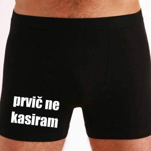 Moške boxer hlače prvič ne kasiram