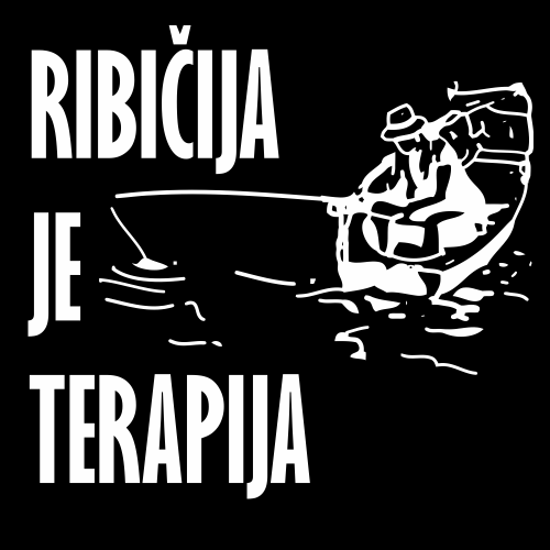 Smešna majica ribičija je terapija