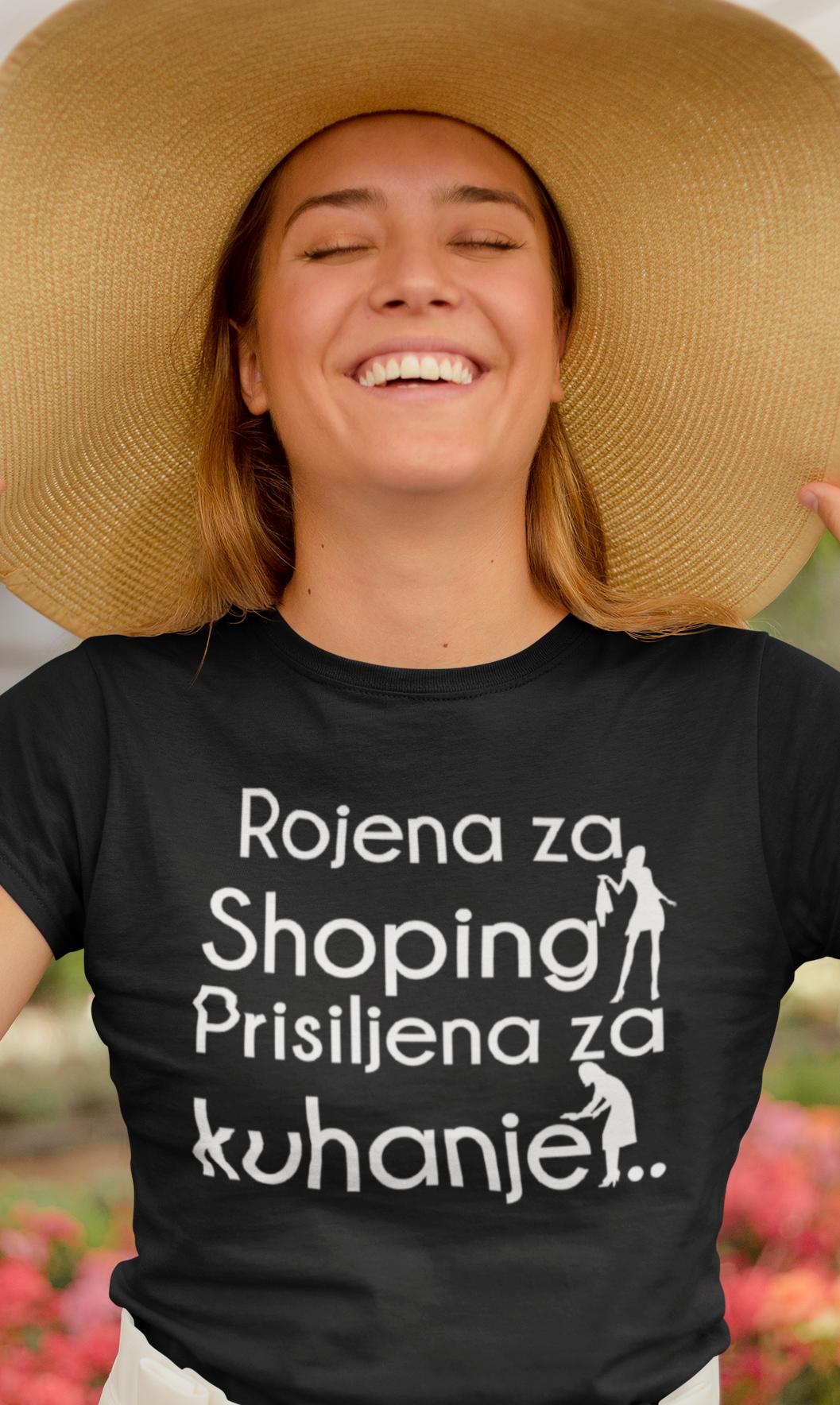 Smešna majica rojena za shopping