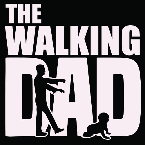 Smešna majica the walking dad