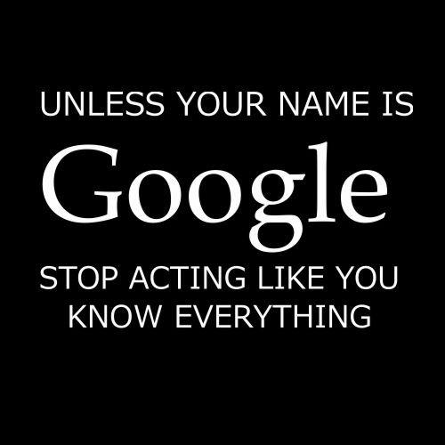 Smešna majica unless your name is google