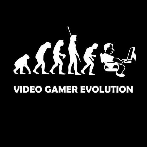 Smešna majica video gamer evolution