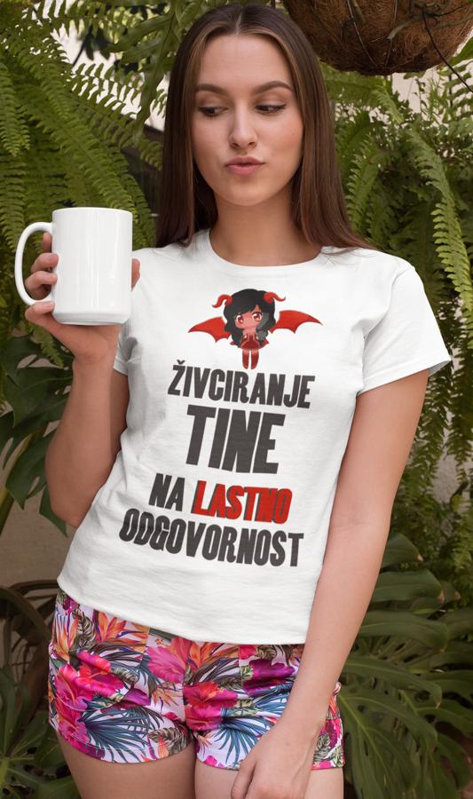 Smešna majica živciranje na lastno odgovornost