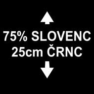 Smešna majica 75 procentov slovenc 25 cm črnc